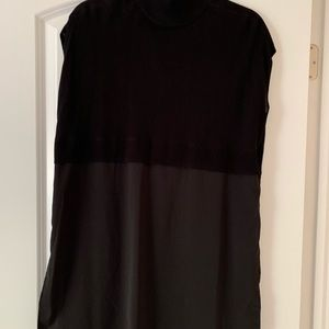 Chico's Tops - BLACK LABEL BY CHICOS black mixed fabrics tunic